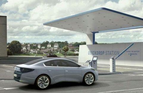 Renault Fluence Z.E. Concept, Batteriewechselstation
