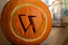 Wordpress Logo Pumpkin