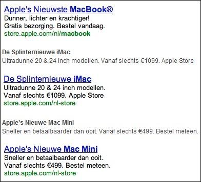 <em>Apple-Werbung für die Niederlande</em>