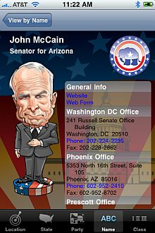 "<em>Präsidentschaftskandidat John McCain als ""Bopple Rep""</em>"