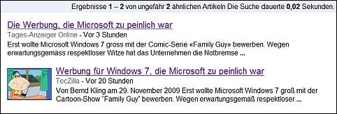 <em>Google News zeigen und erkennen die verblüffende Ähnlichkeit</em>
