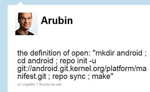 Andry Rubin Tweet Open