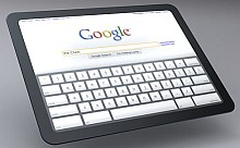 Google-Tablet mit Chrome OS (Konzept-Rendering)