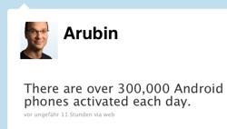 Andy Rubin Tweet Aktivierungen