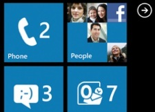 Windows Phone 7 Startscreen