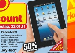 99-Euro-Tablet beim  Discounter