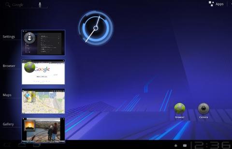 Multitasking mit Android 3.0: Snapshots der Anwendungen