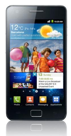 Samsung Galaxy S vertikal