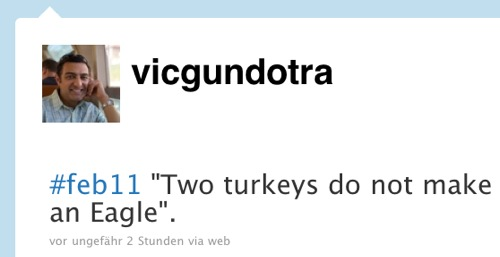 Vic Gundotra Tweet Turkeys Eagle