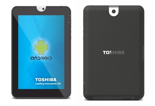 Toshiba Tablet Front Back