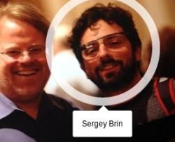 Sergey Brin mit Computerbrille